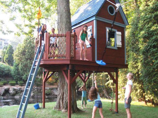 Как детям сделать домик на дереве своими руками