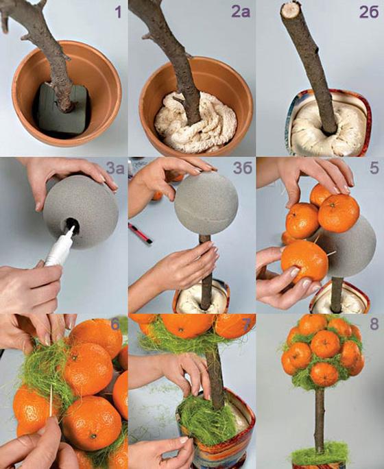 Как сделать мандариновое дерево своими руками пошаговое фото