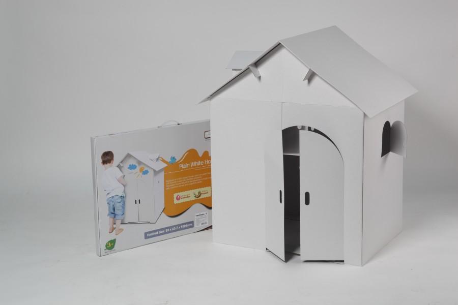 funny paper house белый домик
