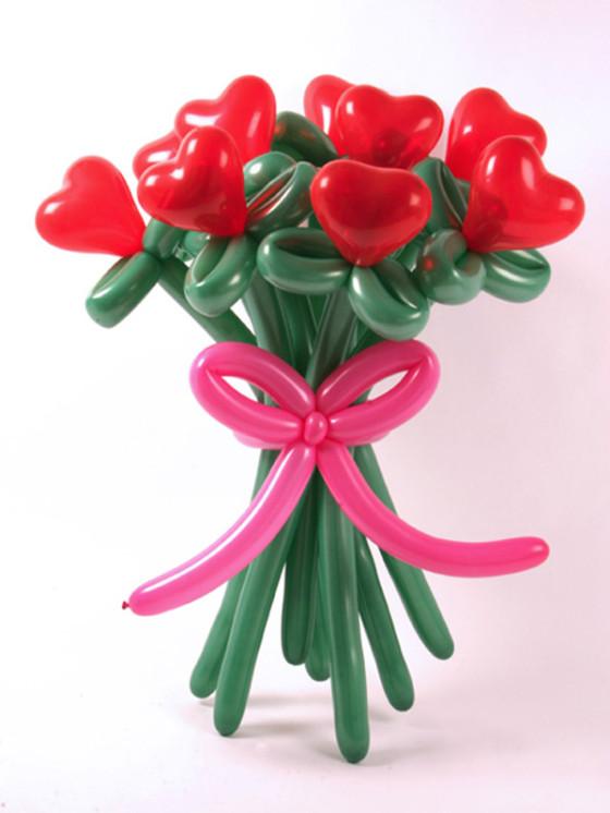 букет из шаров ко дню святого валентина