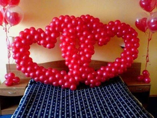 сердечки из шариков