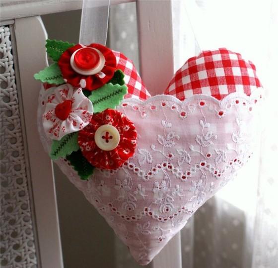 валентинка из ласкутков