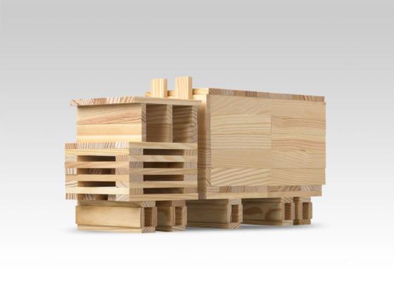 Деревянный конструктор Citiblocs