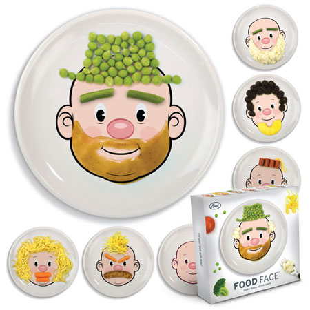 Food Face Kids' Dinner Plate