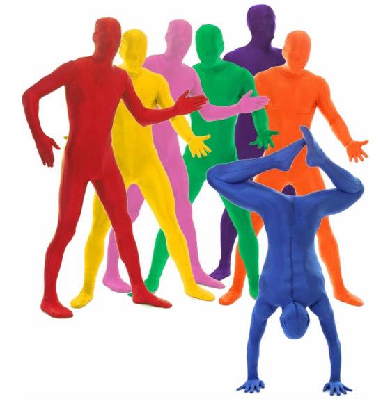Morphsuit разноцветные костюмы