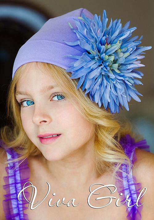 Viva Girl шапочка с хризантемой