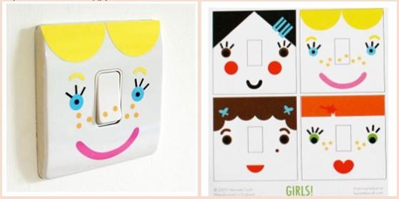 забавные выключатели в детскую комнату