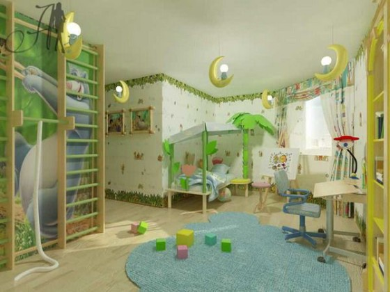 Awesome-Wall-Decorating-in-Kids-Bedroom-from-companys-Architecture-and-Design