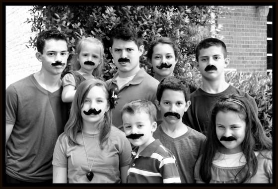 kids mustache 4001 frame
