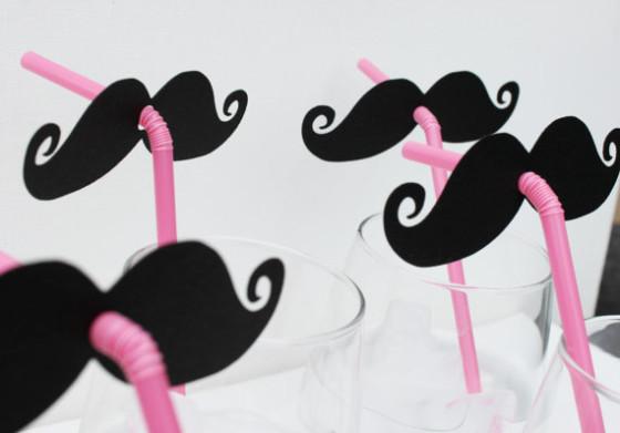 mustache straws