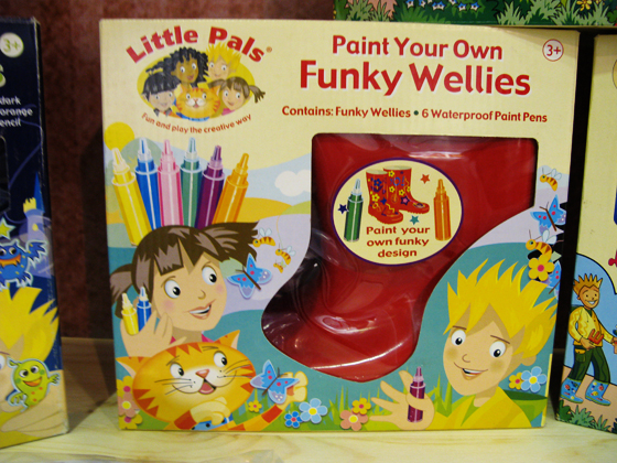 paint your own funky wellies