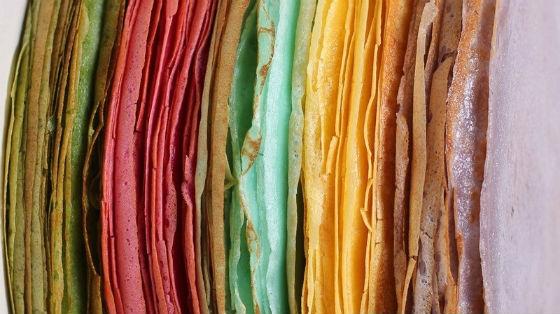 разноцветные блины с использованием натуральных красителей
