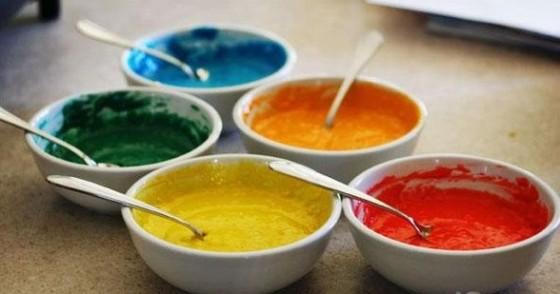 тесто для разноцветных блинчиков