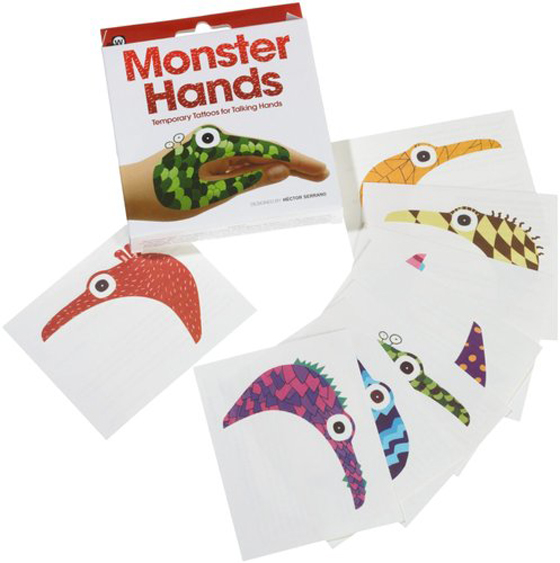 Temporary Tattoos for Talking Hands