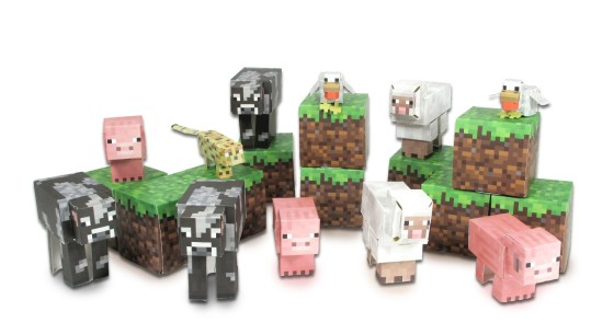 Minecraft from paper
