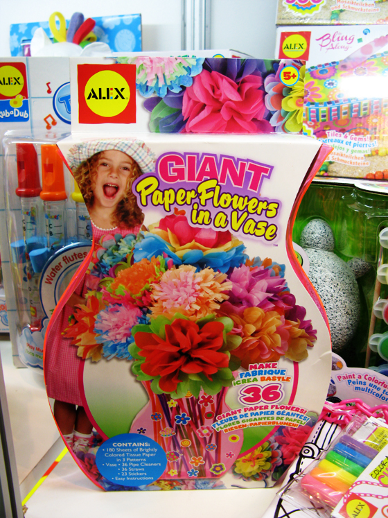 giant paper flowers in a vase