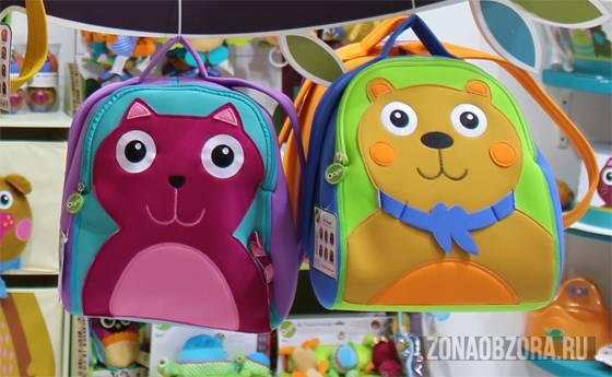 рюкзак с котом и медведем oops