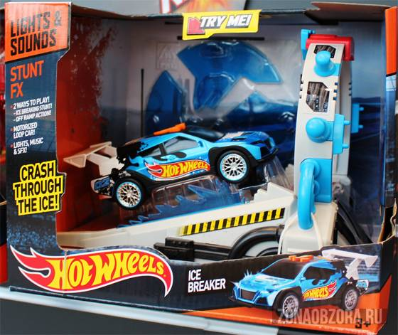 Hot Wheels lights and sounds ice breaker
