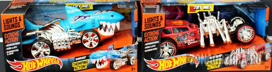 Hot Wheels lights and sounds