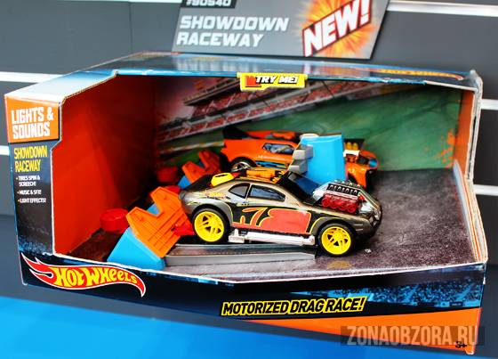 Hot Wheels motorized drage race