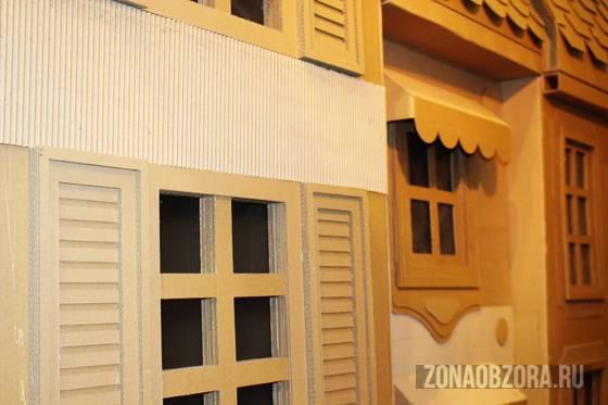 Избушка на картонных ножках. Домики из картона «Картонный папа»